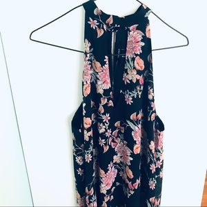 NWT Forever 21 Halter Floral Dress Keyhole Cutout